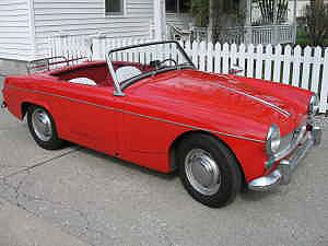 Fuelfed Red MG Midget
