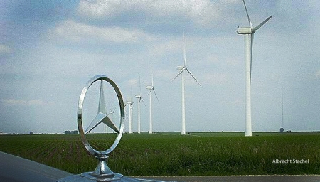 Mercedes-windmill